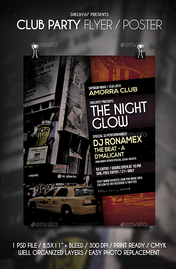 Club Party Flyer / Poster - Clubs & Parties Events