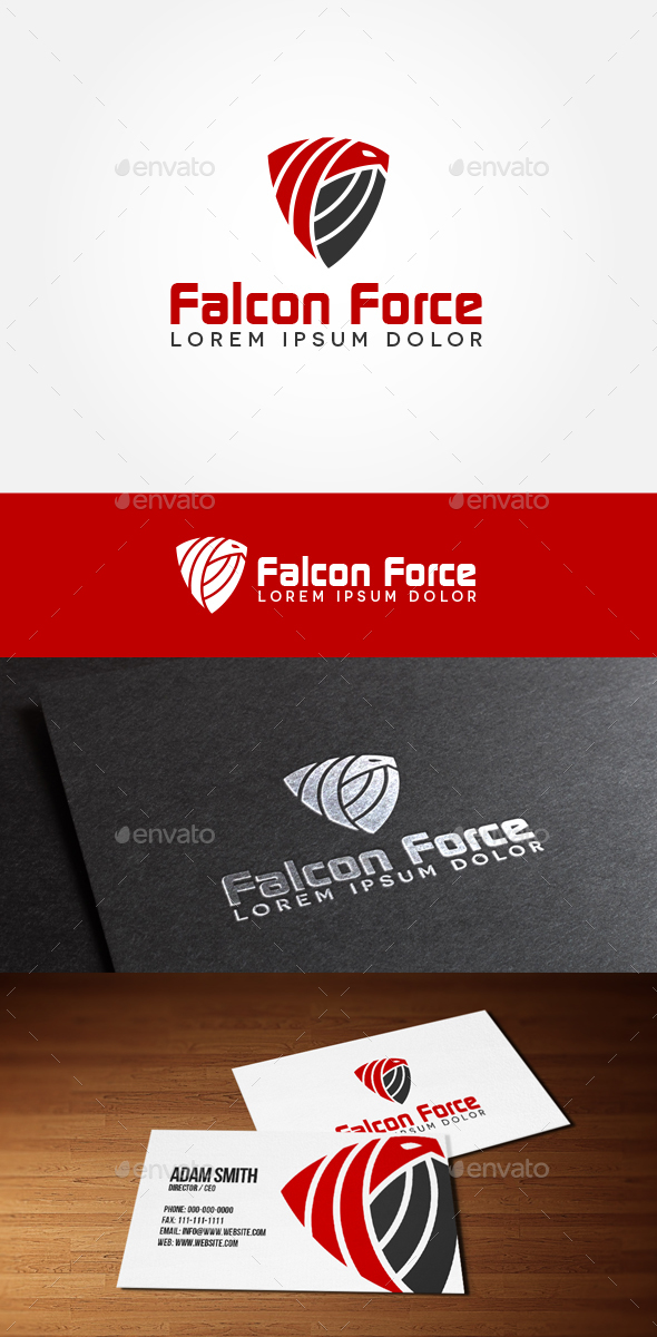 Falcon Force - Animals Logo Templates