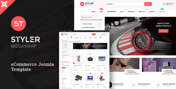 Styler Mega Shop - Responsive Joomla Template - Shopping Retail