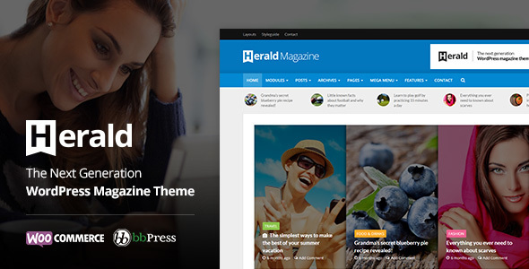 Herald - News Portal & Magazine WordPress Theme - News / Editorial Blog / Magazine