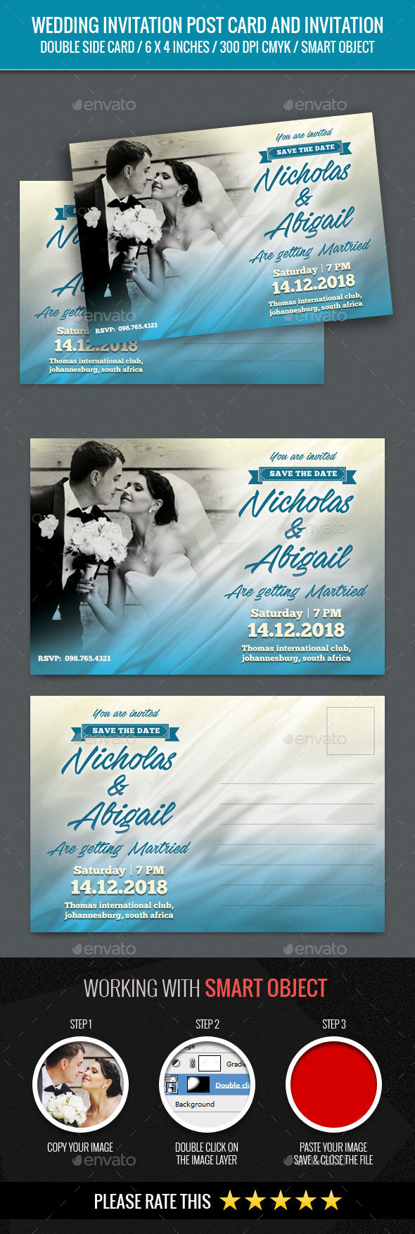 Wedding Invitation Post Card - Weddings Cards & Invites