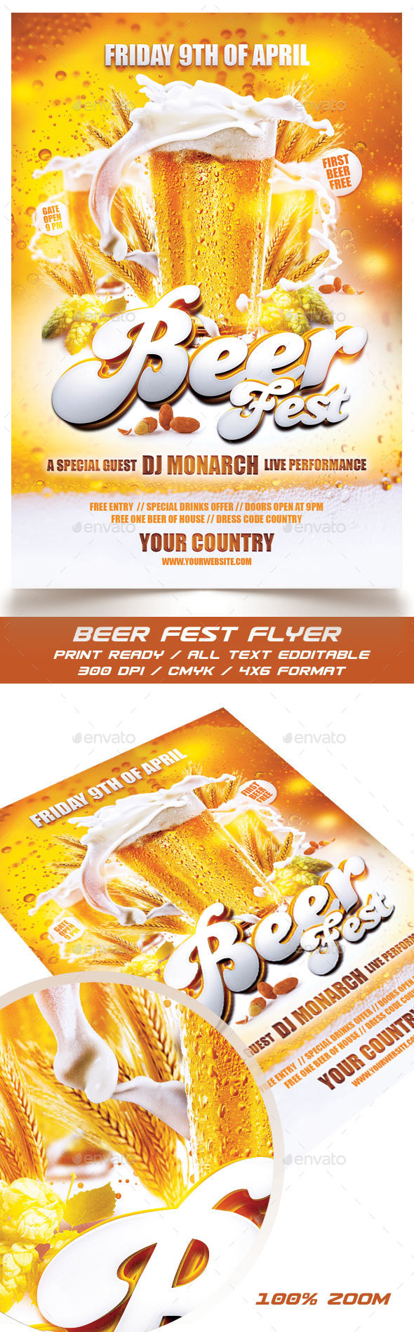 Beer Fest Flyer - Events Flyers