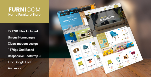Furnicom – Multipurpose eCommerce PSD Template