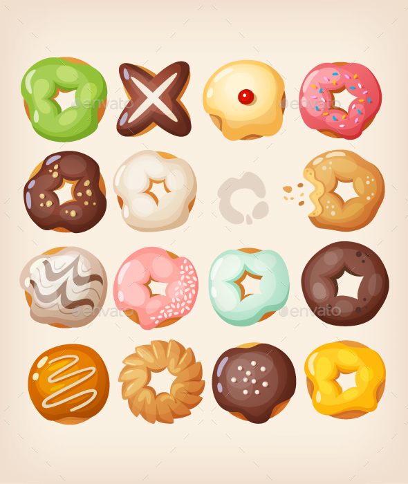 Doughnuts Set - Food Objects