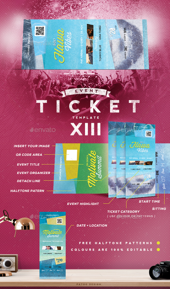 Event Tickets Template XIII - Miscellaneous Print Templates