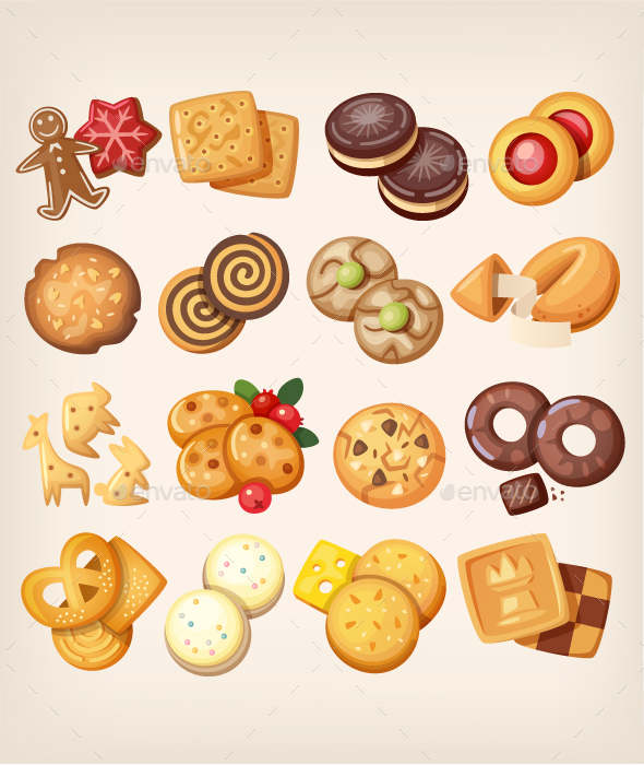Set of Cookies - Food Objects