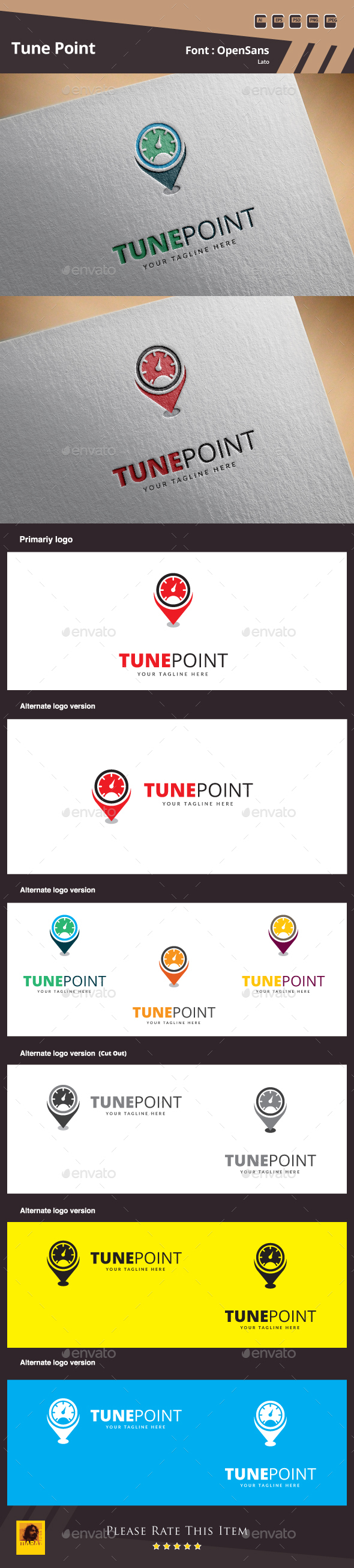 Tune Point Logo - Symbols Logo Templates