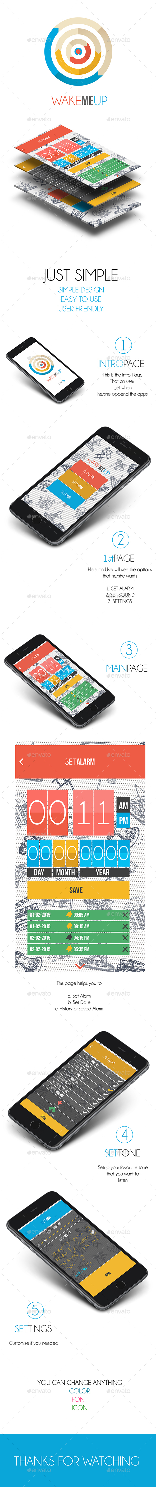 Alarm Application (User Interface Design) - User Interfaces Web Elements