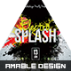 Electro Splash Flyer - GraphicRiver Item for Sale