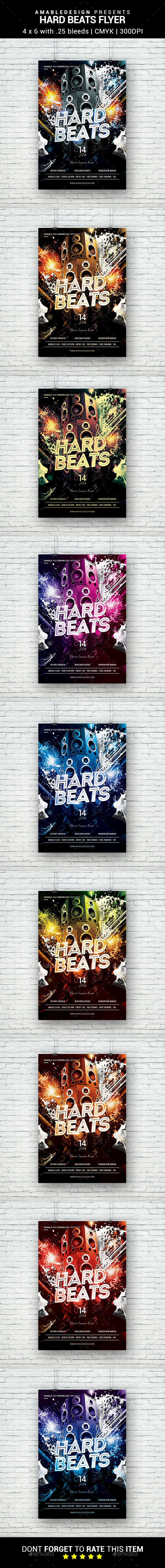 Hard Beats Flyer - Clubs & Parties Events