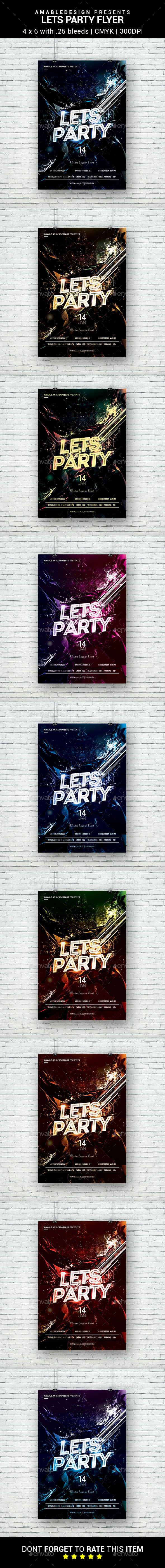 Lets Party Flyer - Clubs & Parties Events