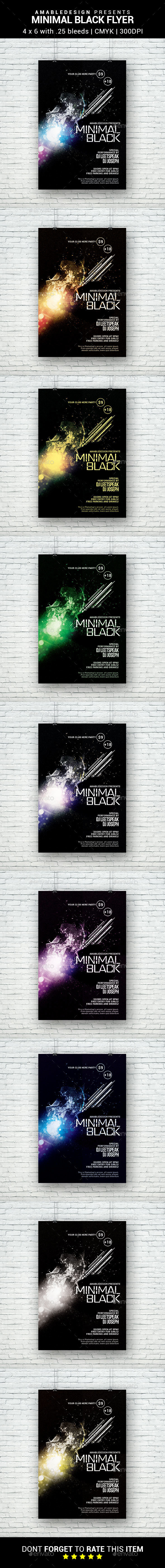 Minimal Black Flyer - Clubs & Parties Events