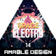 Space Electro Flyer - GraphicRiver Item for Sale