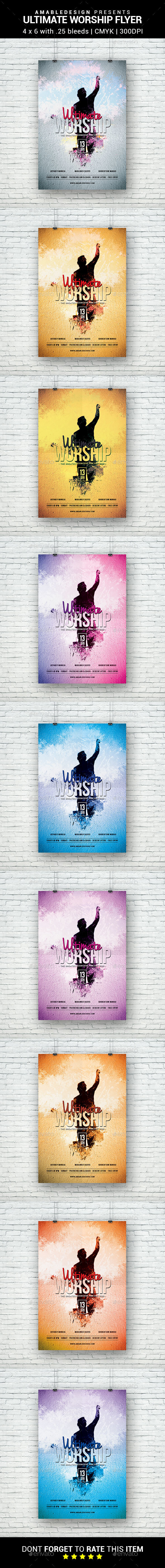 Ultimate Worship Flyer - Clubs & Parties Events
