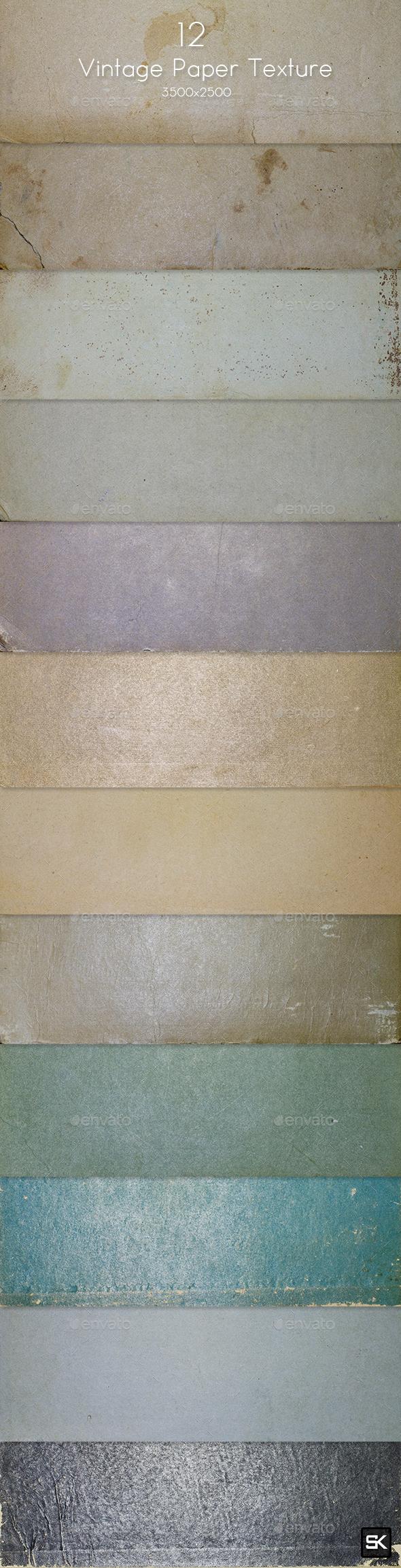 12 Vintage Paper Texture - Paper Textures