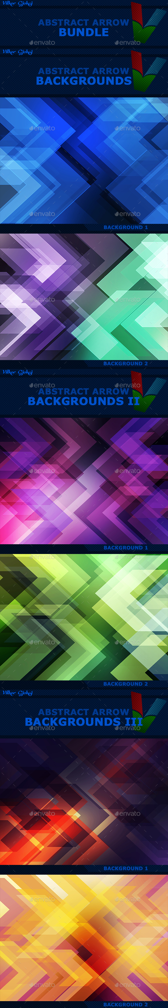 15 Abstract Arrow Backgrounds BUNDLE - Abstract Backgrounds