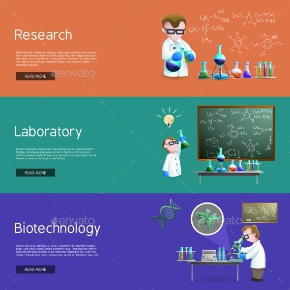 Science Research  Banners - Miscellaneous Conceptual