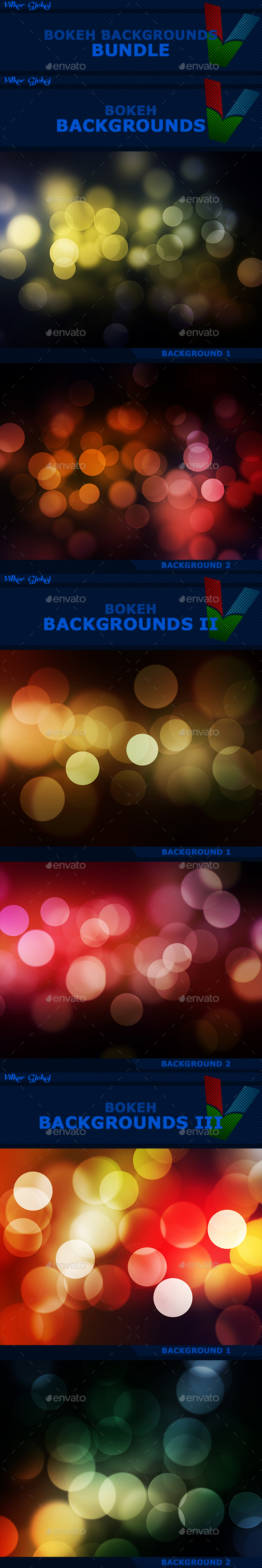 15 Bokeh Backgrounds BUNDLE - Abstract Backgrounds