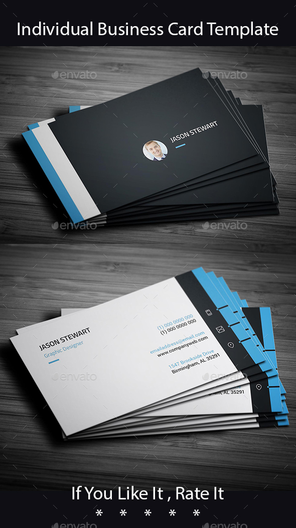 Individual Business Card Template - Creative Business Cards