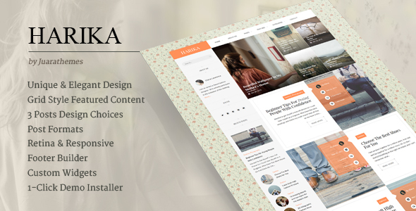 Harika | Clean Personal WordPress Blog Theme