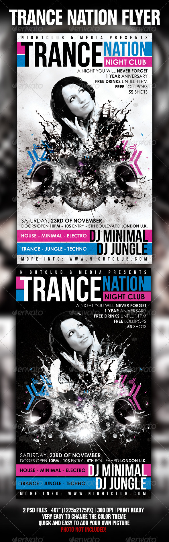 Trance Flyer Template - Clubs & Parties Events