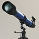 Refractor Telescope with Vray Materials