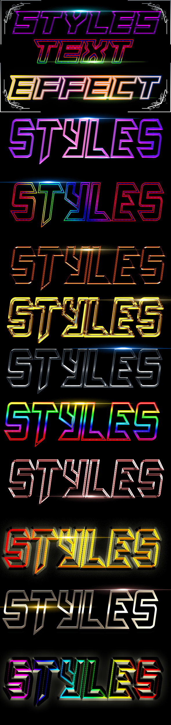 Styles Text Effect - Styles Photoshop