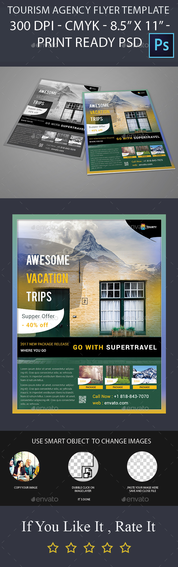 Tourism Agency Flyer Template - Holidays Events