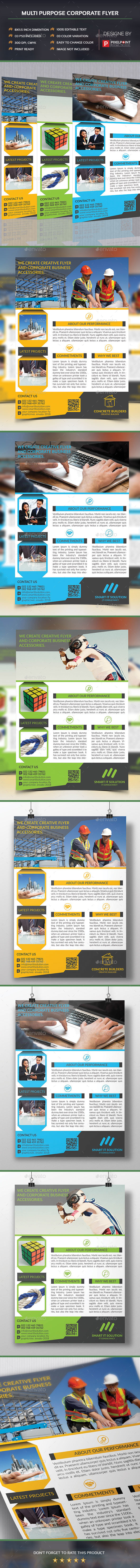 Multi Purpose Corporate Flyer - Corporate Flyers