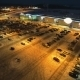 Aerial Shot Big Open Surface Parking Near Shopping - VideoHive Item for Sale