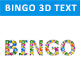 Bingo 3D Text with Bingo Balls - GraphicRiver Item for Sale