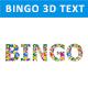 Bingo 3D Text with Bingo Balls - GraphicRiver Item for Sale