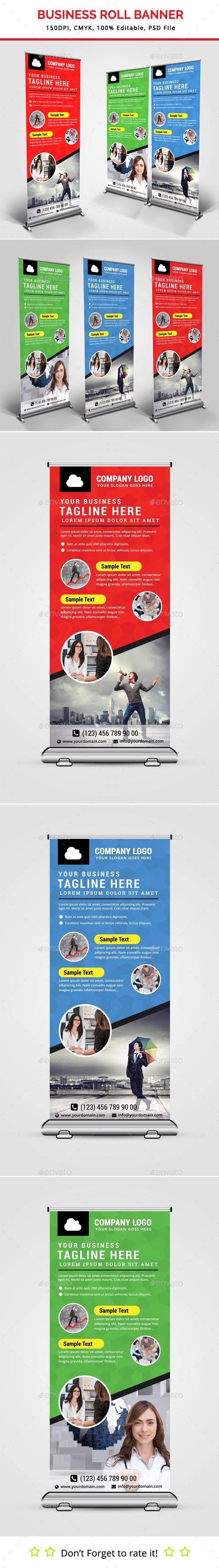 Business Roll Up Banner V21 - Signage Print Templates