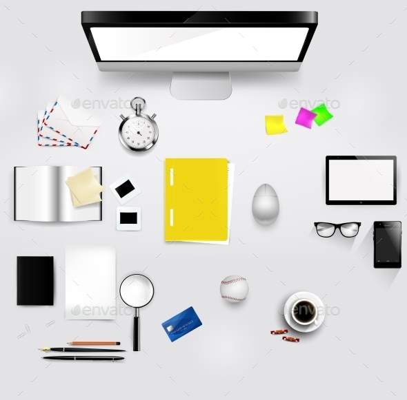 View of Comfortable Working Place in Office  - Man-made Objects Objects