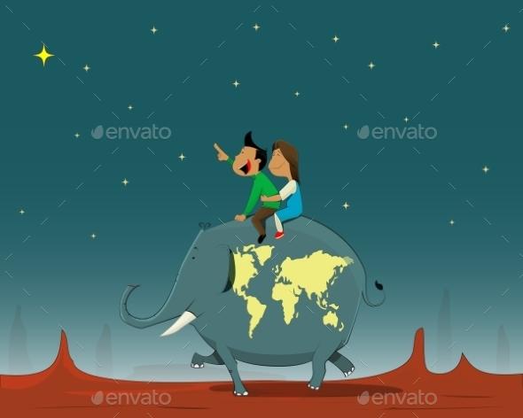 Travel Concept Illustration - Travel Conceptual