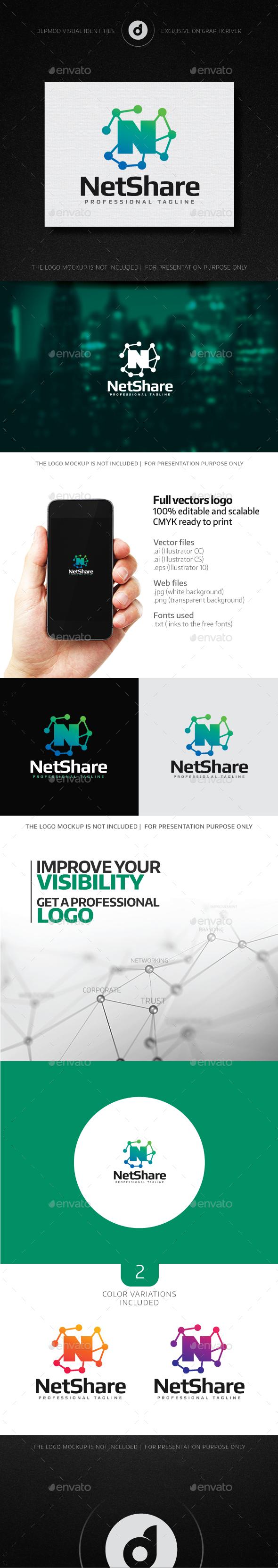 NetShare Logo - Letters Logo Templates