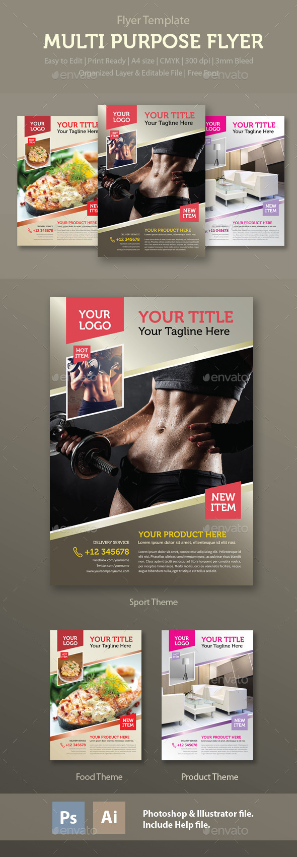 Multi Purpose Flyer Template - Commerce Flyers