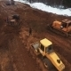 Aerial Shot Crawler Tractor In Road Construction - VideoHive Item for Sale