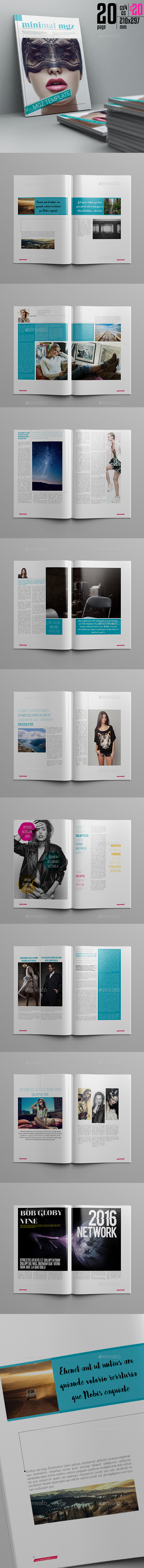 Minimal Magazine Template 20 Page - Magazines Print Templates