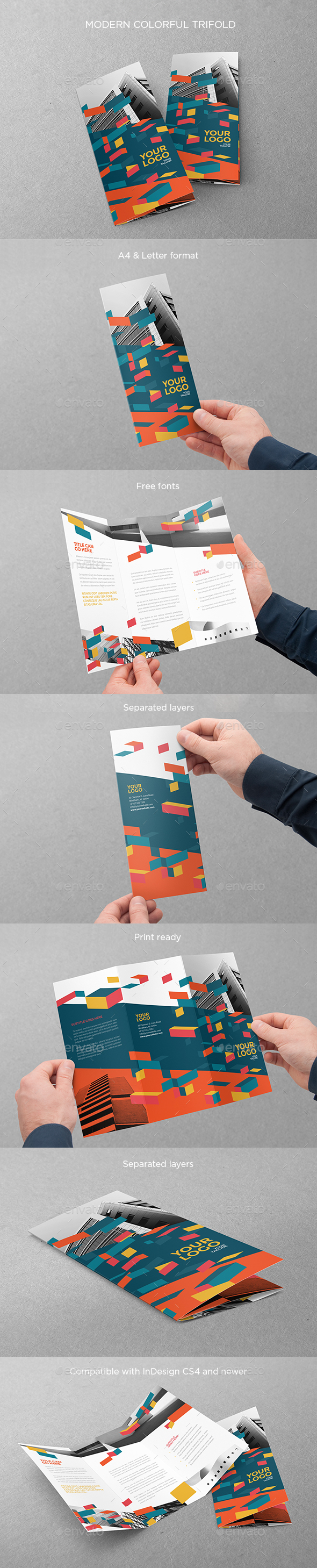 Modern Colorful Trifold - Brochures Print Templates