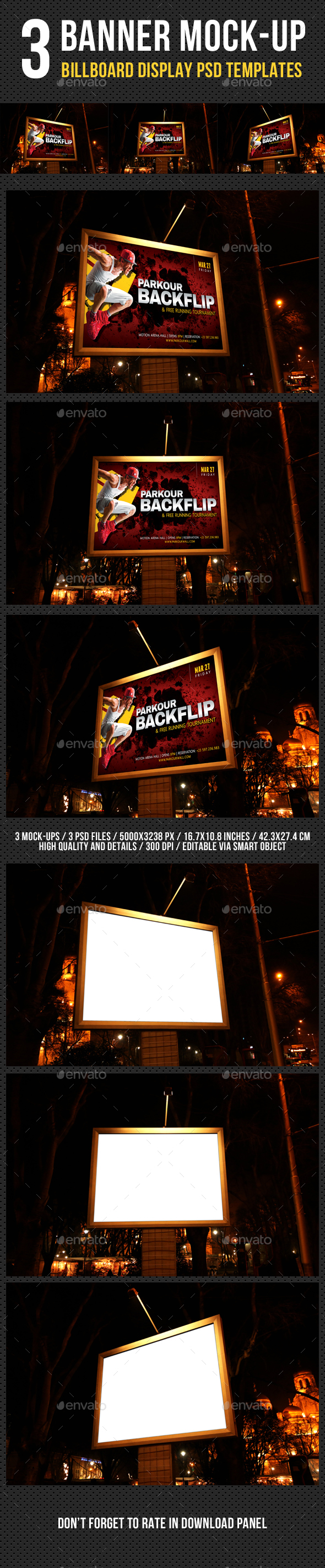 Billboard Banner Mock-Up V3 - Signage Print