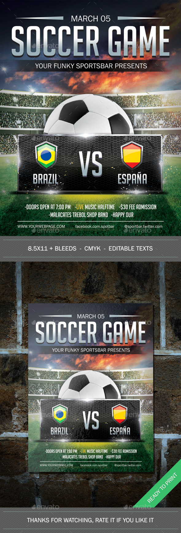 Soccer Poster - Sports Events