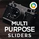 Multi Purpose Sliders - 5 Variations - GraphicRiver Item for Sale
