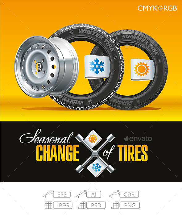 Tire Change Season on the One Wheel - Services Commercial / Shopping