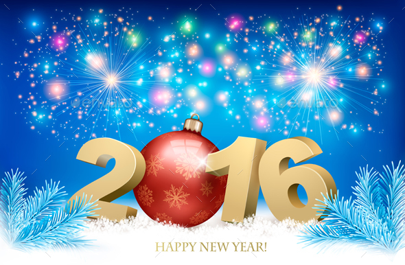 Happy new year background with 2016 by almoond graphicriver happy new year background with 2016 new year seasonsholidays toneelgroepblik Gallery