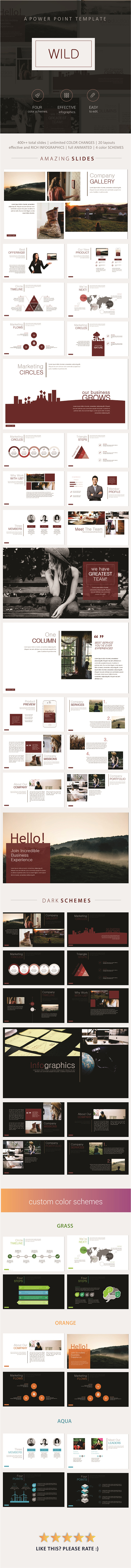 Wild PowerPoint Template - Business PowerPoint Templates