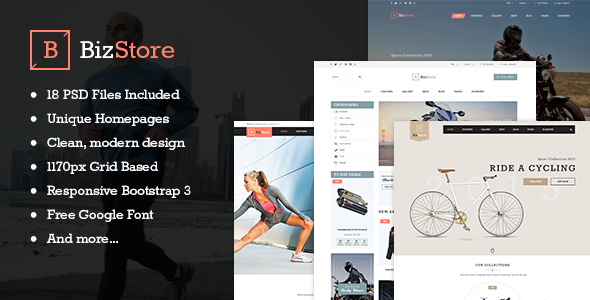 BizStore - Multipurpose eCommerce PSD Template