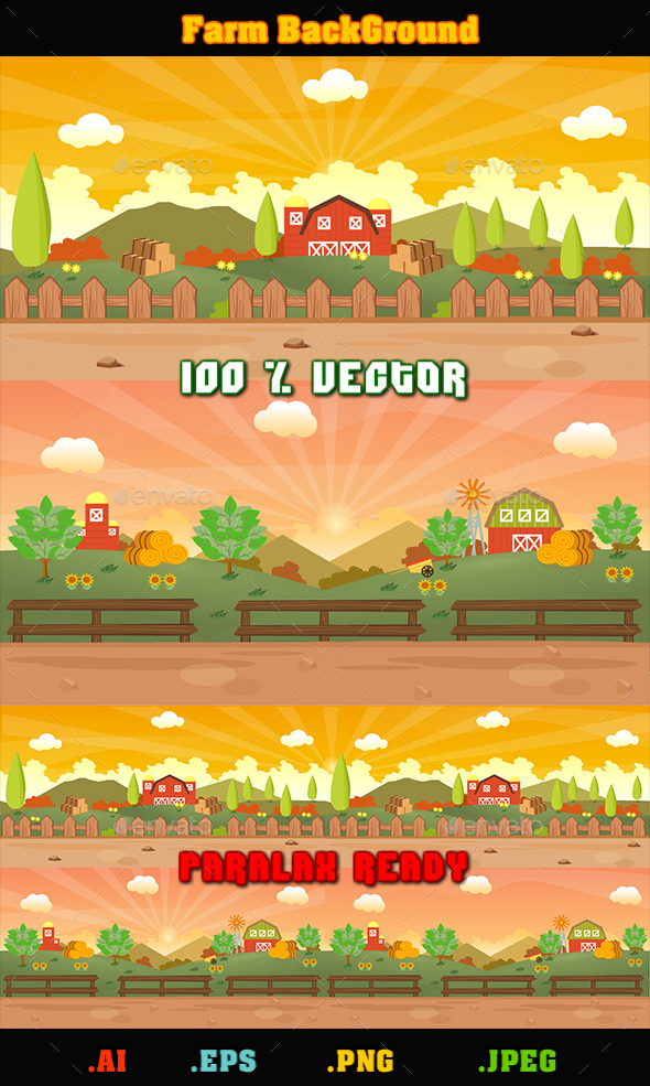 Farm BackGround - Backgrounds Game Assets