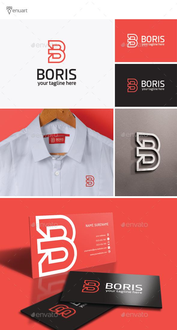 Boris - Letter B Logo - Letters Logo Templates