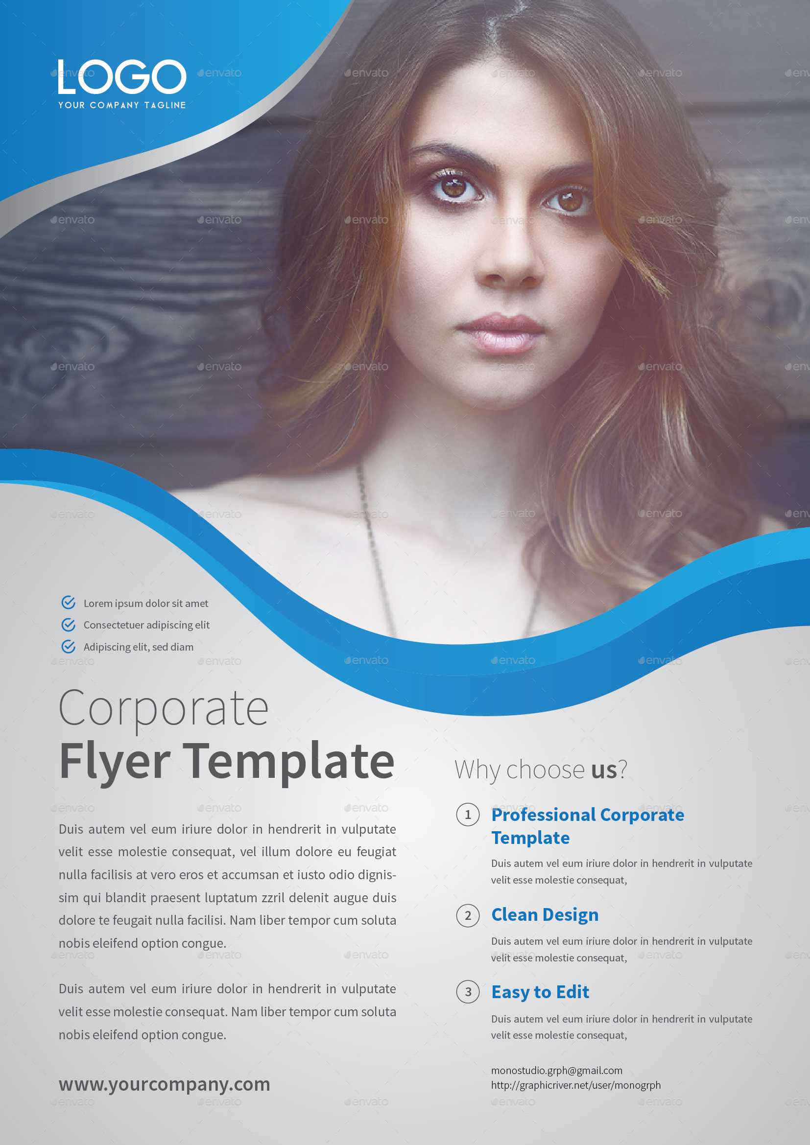 corporate flyer template set 6 by monogrph graphicriver